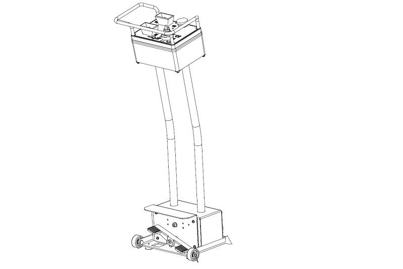 Wireless Bedieneinheit für Reifenmontiermaschine LKW RP-U-291P Nachrüstsatz (1 Geschwindigkeit)