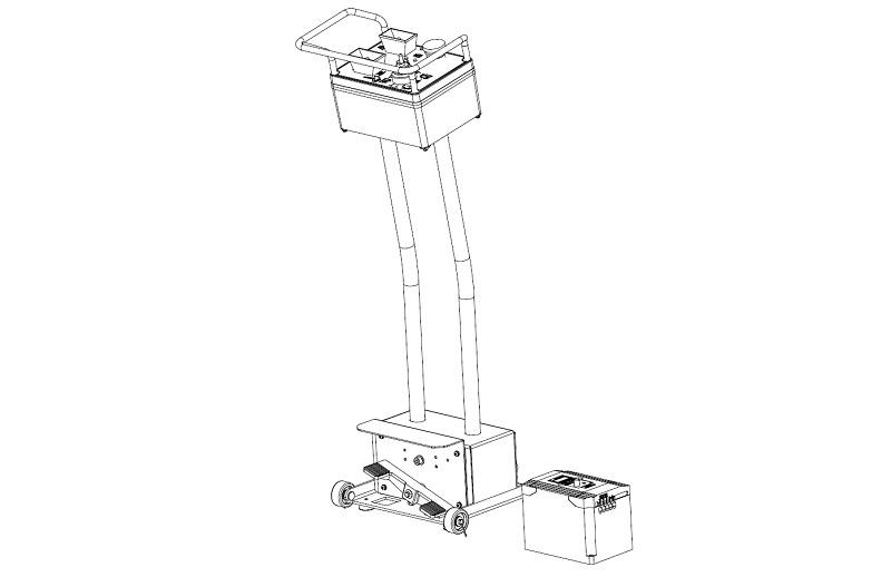Wireless Bedieneinheit für Reifenmontiermaschine LKW RP-U-291P Nachrüstsatz (2 Geschwindigkeiten, 5,5 kW)