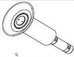 Rollenwerkzeug zur Montage/Demontage von schlauchlosen LKW-Reifen für Reifenmontiermaschine LKW RP-U296P, RP-U290P
