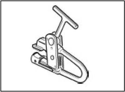 Wulstniederhalter 138/90 Wulstzange Alufelgen Zange für Reifenmontage LKW