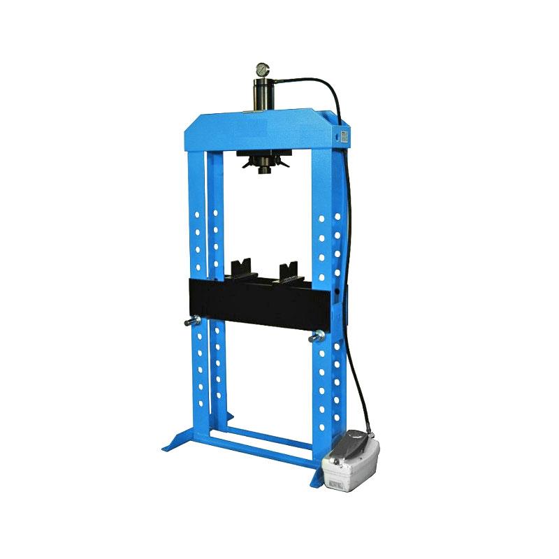 Werkstattpresse Hydraulikpresse, 10-100 t, manuell: Hand- & Fußbetrieb, automatisch: hydropneumatisch, Kolben beweglich, Made in EU