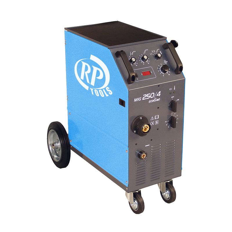 Schutzgas Schweißgerät ecoline MIG/MAG luftgekühlt 15-420 A 3 x 400 V digital 0.6-1.2 mm 4 Rollen Vorschub Made in EU