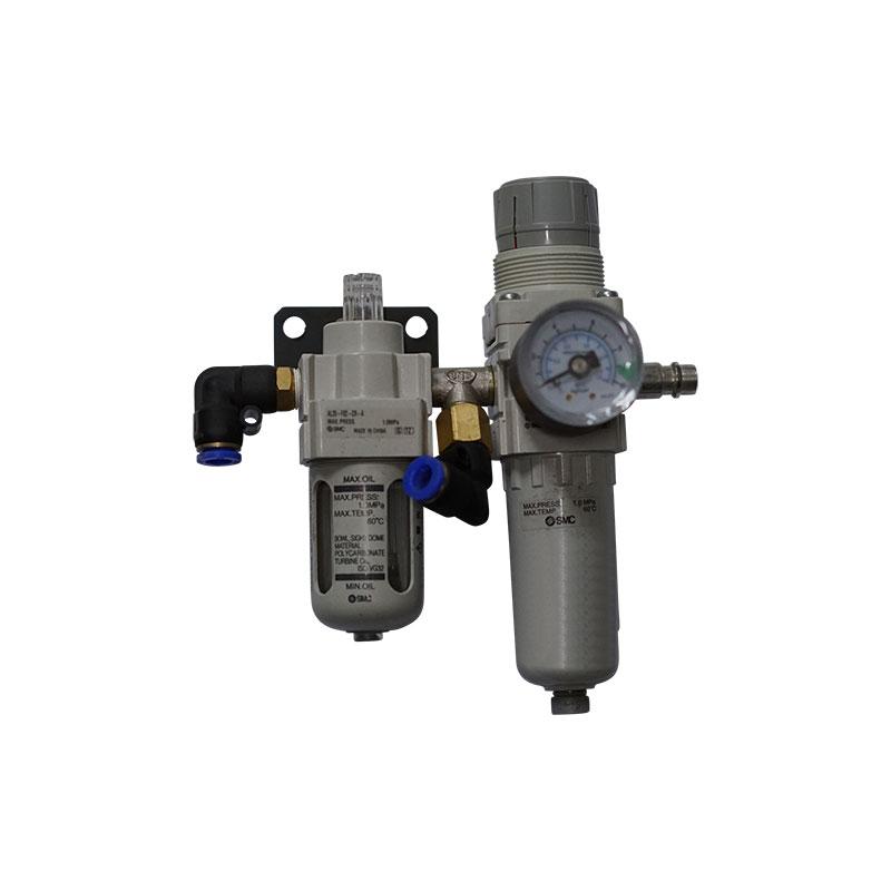 Wartungseinheit SMC mit Druckregler, Wasserabscheider und Öler für Hebebühnen 1/4 Zoll - 1/4 Zoll ohne Anschlüsse