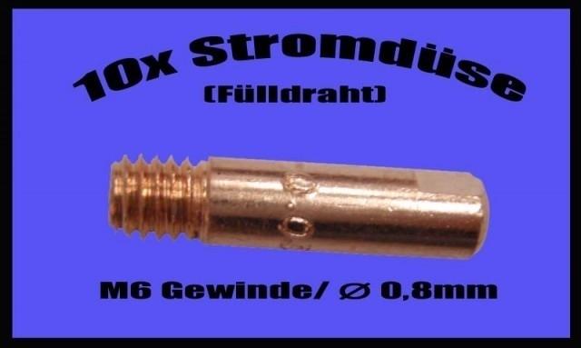 10 Stk. Düse 0,8 mm Fülldraht, Güde, Easy, MIG, 125, Kinzo, Rowi