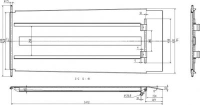 Auffahrrampe mitfahrend L: 1472 mm für Scherenhebebühne für Achsvermessung RP-8240B4, RP-8240C4,... 2 Stk.