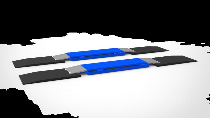 Auffahrtsrampe Auffahrrampe Sportliche Fahrzeuge für Hebebühne 1000 x 500 x 30 mm