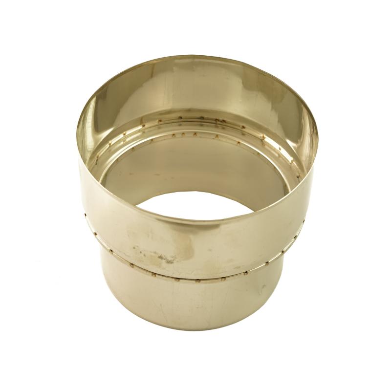 Rohr Ofenrohrreduzierung, Edelstahl, 150mm - 130mm