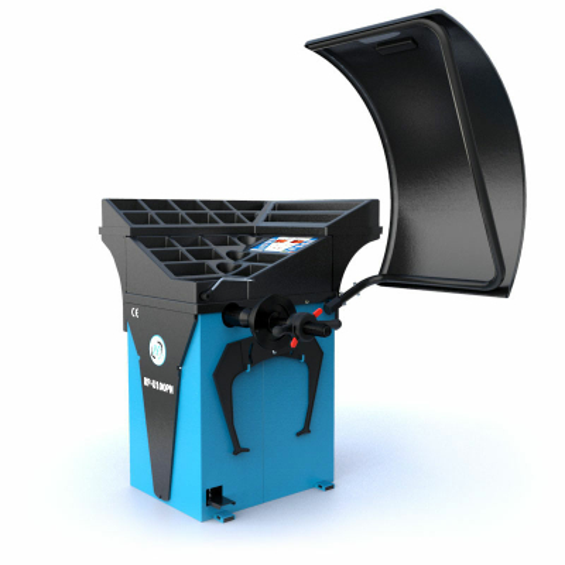 Reifen-Wuchtmaschine halbautomatisch 230 V, 10-32 Zoll...
