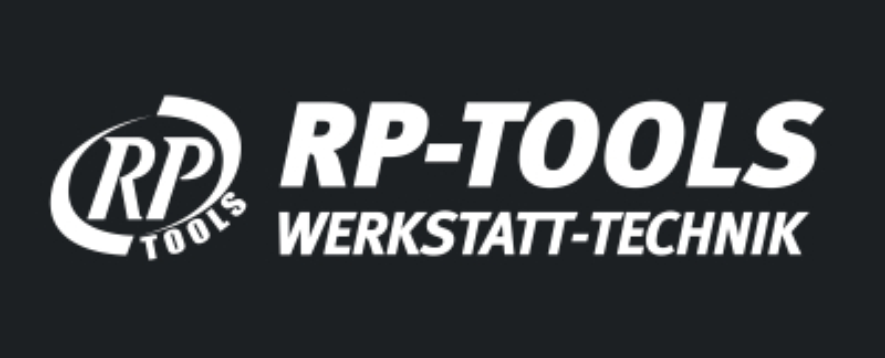 Banner RP-TOOLS LOGO, PVC Frontlit Standard, Randverstärkt mit Ösen 2000 x 800 mm