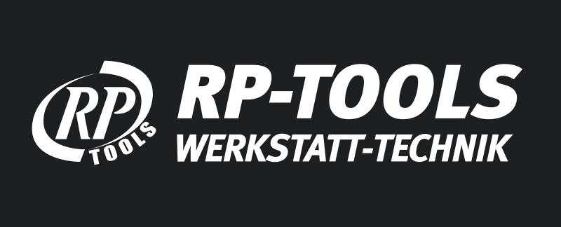 Banner RP-TOOLS LOGO, PVC Frontlit Standard, Randverstärkt mit Ösen 3500 x 1000 mm