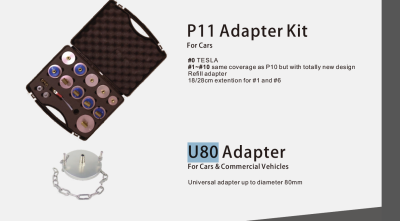 Adapter-Satz P11 für Bremsentlüftungsgerät RP-AD-1000 RP-TOOLS