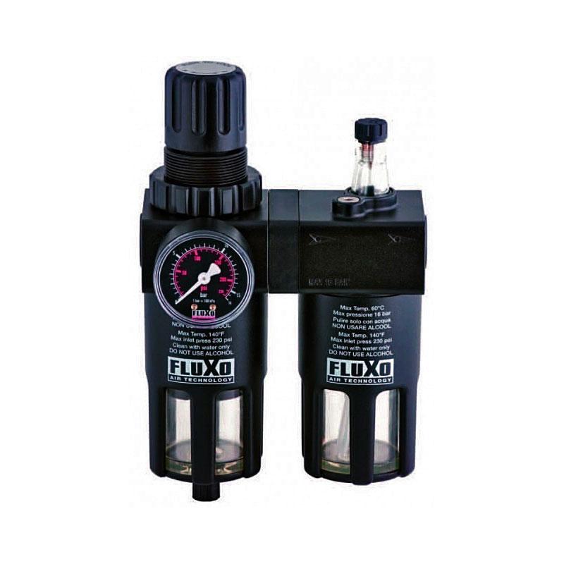 Wartungseinheit Wasserabscheider + Öler 1/2 Zoll bis 15 Bar