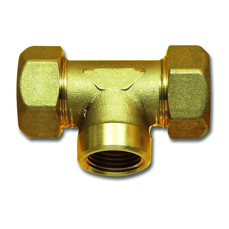 T-Verbinder 22 mm Messing