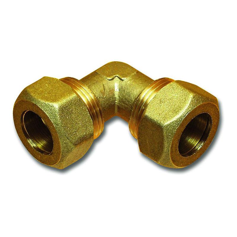 Winkel Verbinder 15 mm Messing