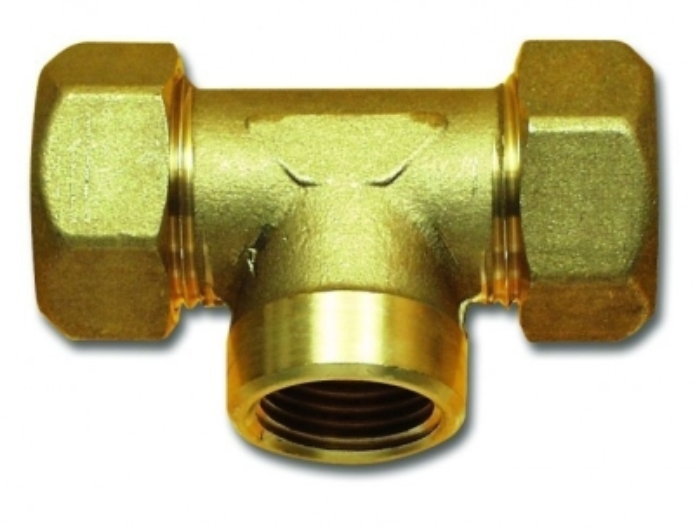 T-Verbinder 1/2 Zoll, 22 mm Messing