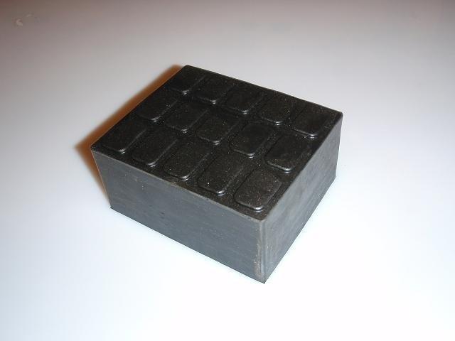 Gummiauflage Gummiklotz Gummiblock 01 für Hebebühnen 115 x 100 x 55 mm 1 Stk.