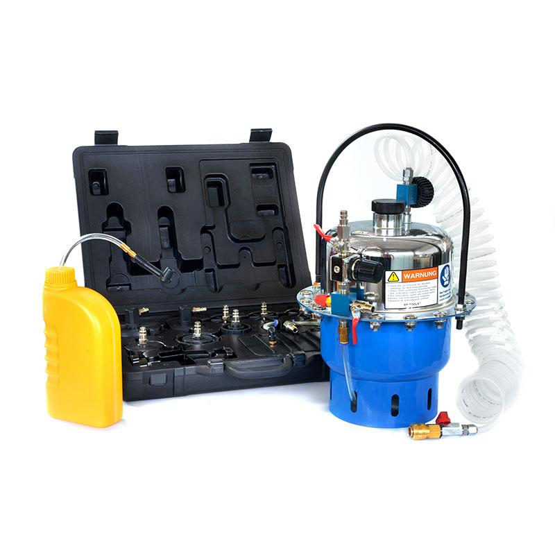 Pneumatisches Bremsenentlüftungssystem für alle Marken, 0,5-3 bar, 10 Aufnahmen, 5 l Fassungsvermögen