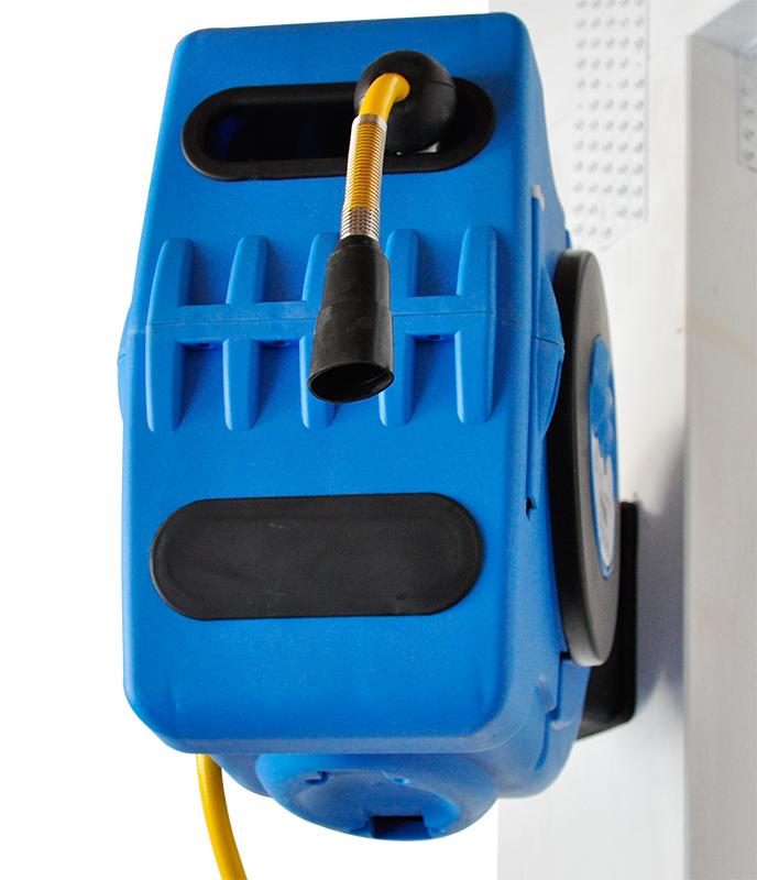 Druckluft Industrie Schlauchaufroller Schlauchtrommel 12 Bar mit 180° Wandhalter 20 m von RP-TOOLS